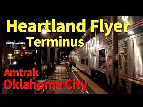 Amtrak Heartland Flyer arrived at Historic Art Deco Santa Fe Depot, Amtrak Oklahoma City Station