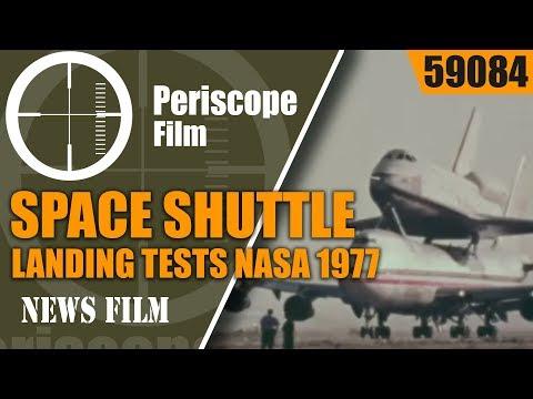 SPACE SHUTTLE ENTERPRISE APPROACH AND LANDING TESTS   NASA DRYDEN  1977  59084