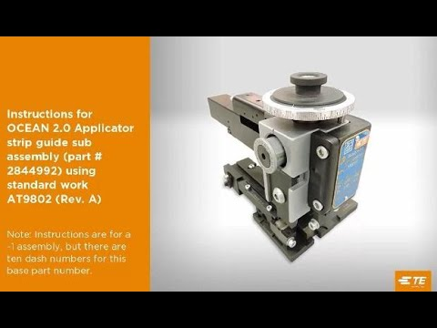 How to Assemble and Adjust TE OCEAN 2.0 Applicator Part 3
