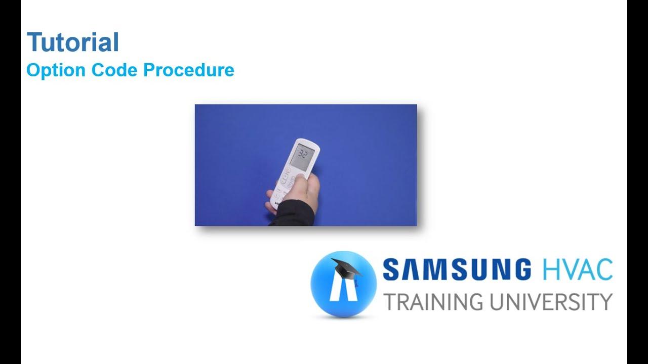 Tutorial: Option Code Procedure