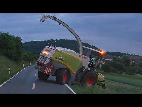 Klee Gras Hckseln 2018 + Hcksler verstopft ( Sound )