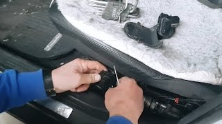 Replacement of buttons of management and adjustment of seats on Mercedes W203