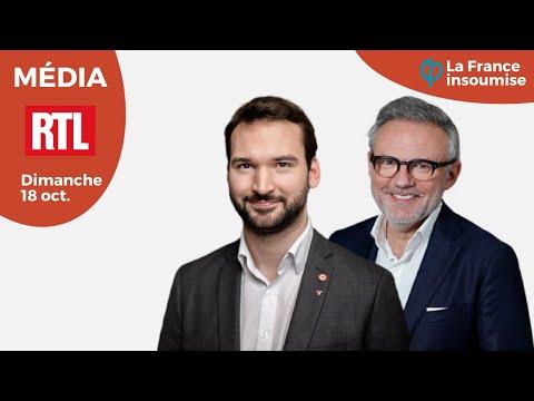"""UGO BERNALICIS INVITÉ D'ÉRIC BRUNET SUR RTL DANS """"OÙ VA LA FRANCE ?"""""""