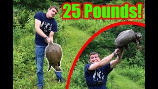 WE CAUGHT OUR PB SNAPPING TURTLE! (25 Pounds)