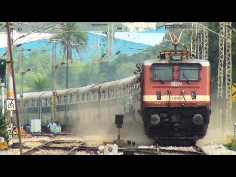 INDIAN RAILWAYS HIGH SPEED WAP4 COMPILATION OF BEST MOMENTS PART 1
