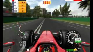 2006 Formula One PS3, try F1 Melbourne 3 laps 4