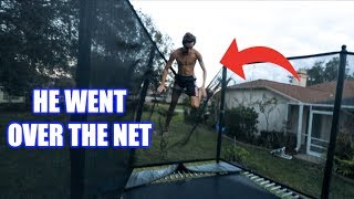 Dangerous trampoline fail...