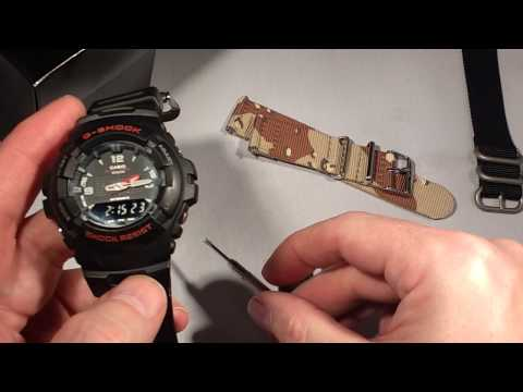 How to replace strap band on Casio GShock G100 watch with JaysAndKays® Convertibles® Adapters