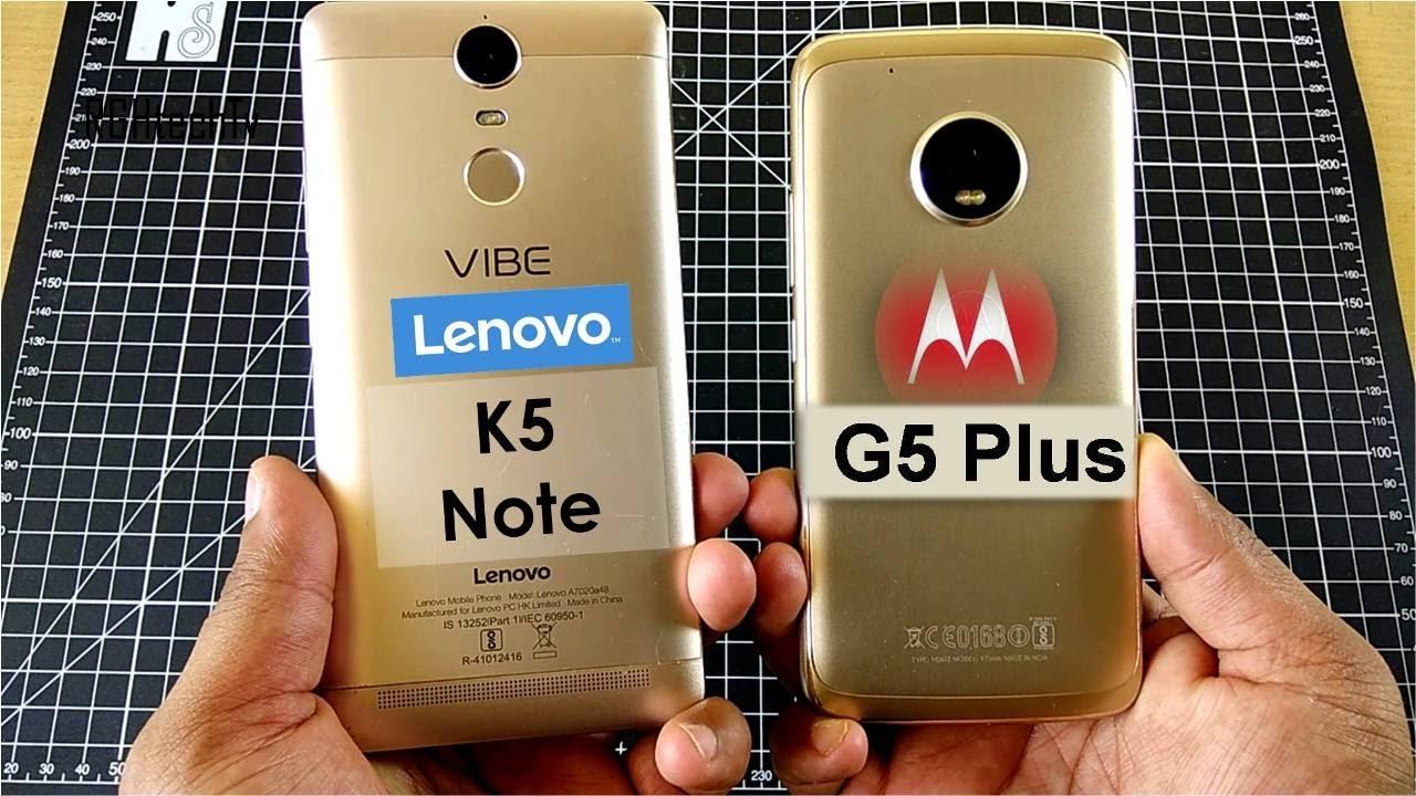 Moto G5 Plus vs Lenovo K5 Note | Gaming, Camera, Battery, Design& Build,  Sound