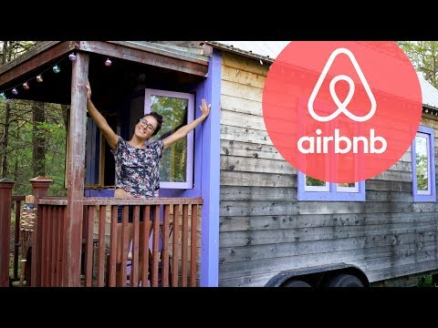 TINY HOUSE in the woods used as AirBnB (FULL TOUR)
