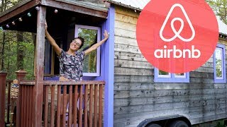 Tiny House In The Woods Used As Airbnb  Full Tour