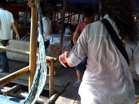 0 Vung Tau   arriving at floating seafood restaurant   Vietnam