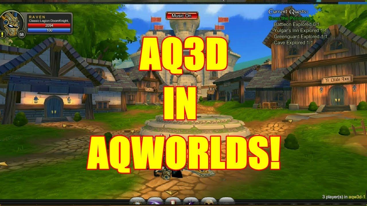 AQ3D In AQWORLDS! AdventureQuest 3D