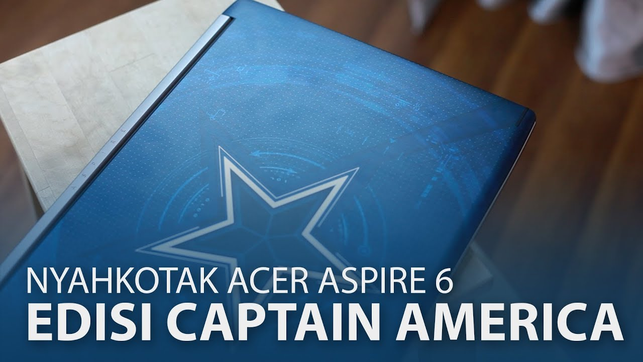 Nyahkotak : Acer Aspire 6 Edisi Captain America