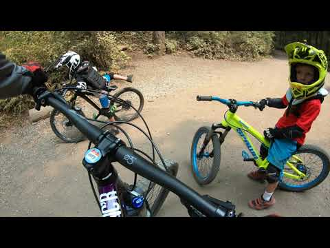 Kids Mountain Biking Shredding Duthie Hill PNW