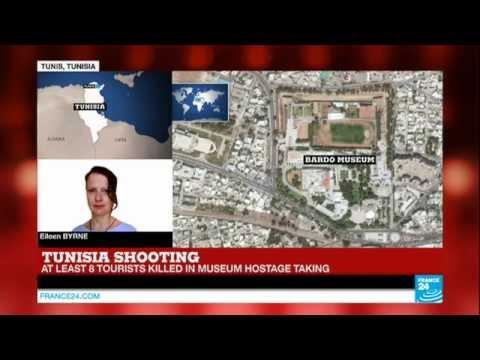 TUNISIA ATTACK - At least eight tourists killed in Tunis in Bardo museum attack
