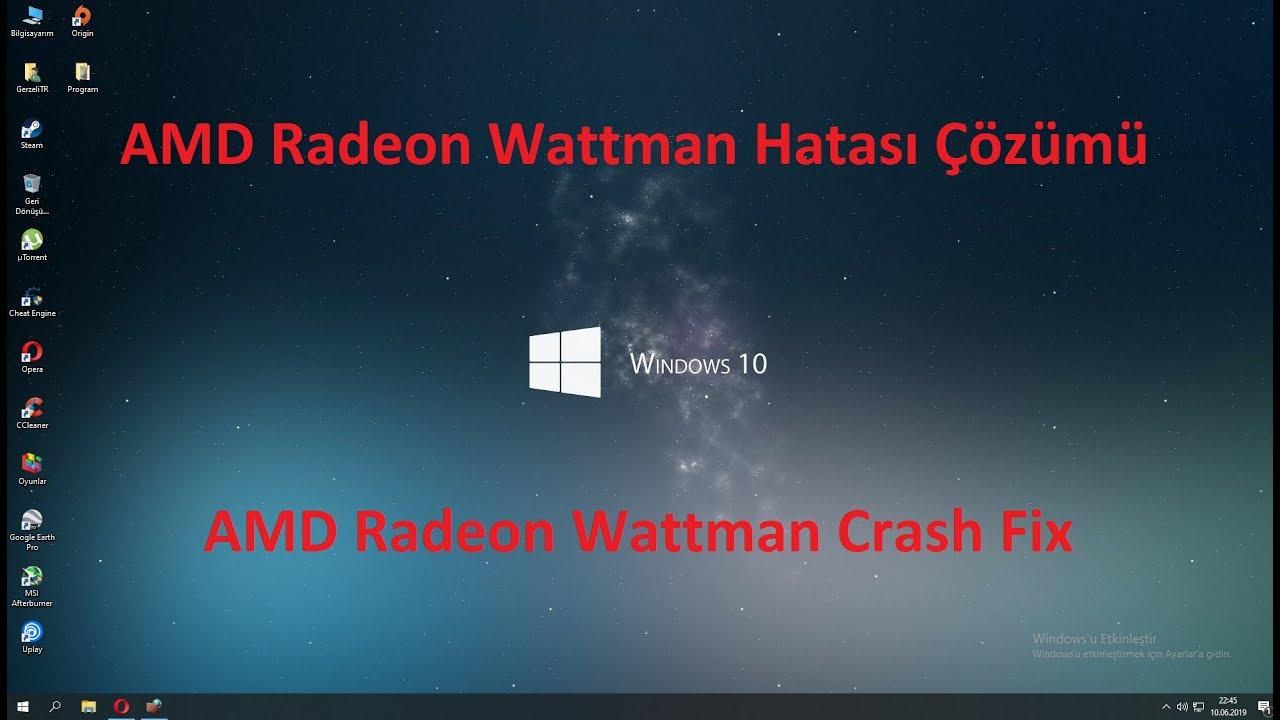 Radeon Wattman Crash 2019
