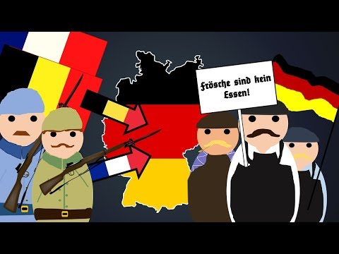 Why did France and Belgium Invade Germany in 1923 - The Occupation of the Ruhr