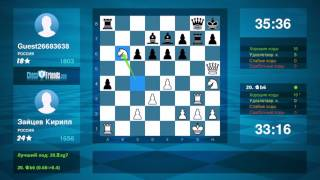 Chess Game Analysis: Зайцев Кирилл - Guest26683638 : 1-0 (By ChessFriends.com)