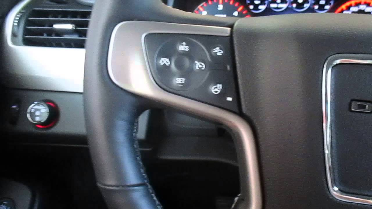 2015 Yukon Denali steering wheel controls - YouTube