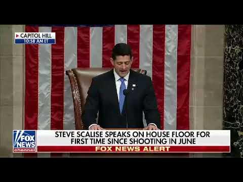 House Majority Whip Steve Scalise welcomed back to work