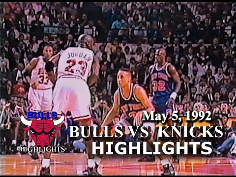 May 5, 1992 Bulls vs Knicks game 1 highlights