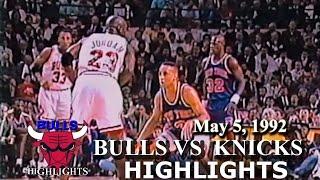May 5, 1992 Bulls vs Knicks game 1 highlights Video