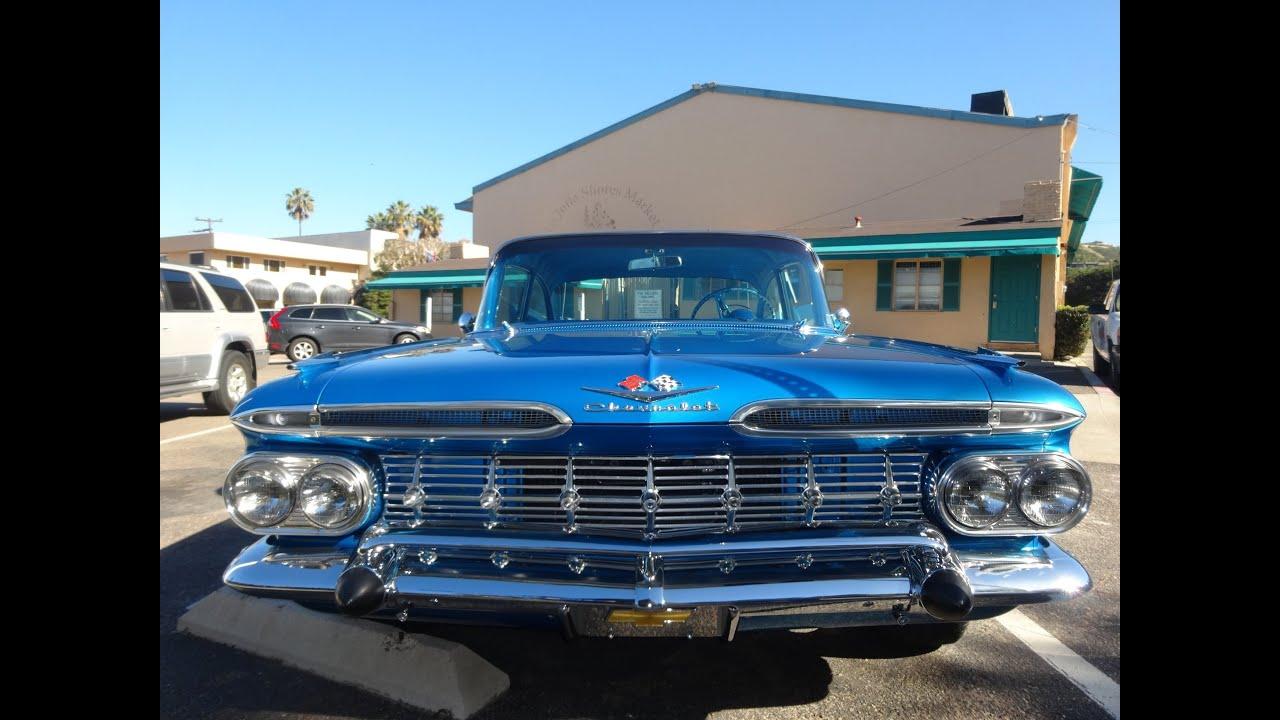 1959 chevorlet bel air impala mint restored chevy video. Black Bedroom Furniture Sets. Home Design Ideas