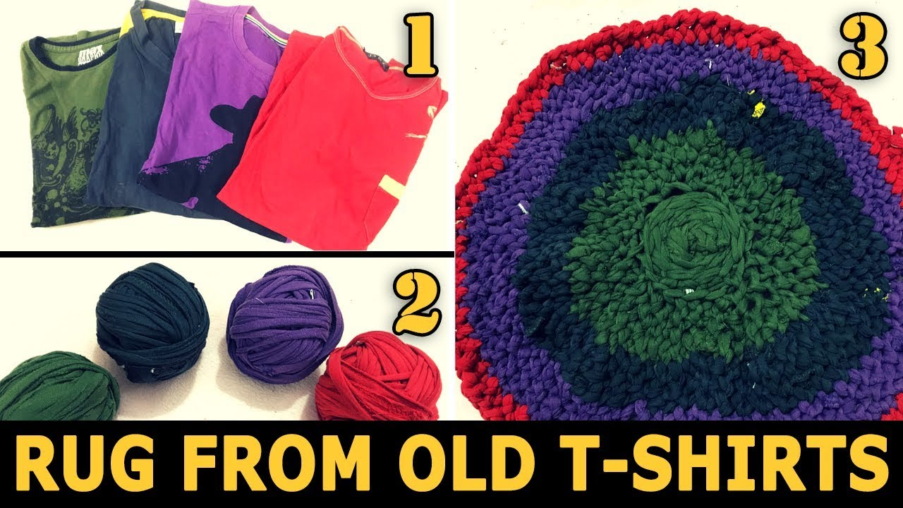 Rag Rug using Old T-Shirts