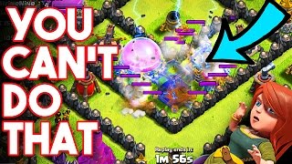 against the rules clash of clans this guy doesnt know the rules upgrading th9