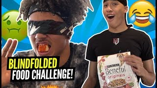 """NO WAY HE ATE THAT!"" Blindfold Food Challenge RJ Hampton Vs Jalen Wilson"