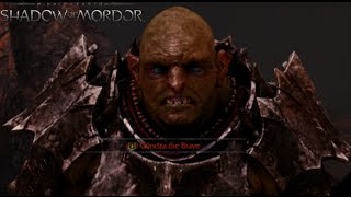 Middle-Earth: Shadow of Mordor: Gameplay - Warchief Gundza The Brave Fight!