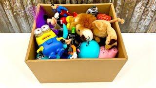 Toy Box for Kids ⚽️ Zabawki dla dzieci  Peppa, Minionki, Strazak Sam, Mickey Mouse, Superman