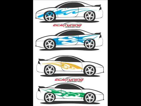 stickers laterales decals tuning - YouTube
