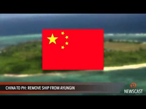 China to PH  Remove ship from Ayungin