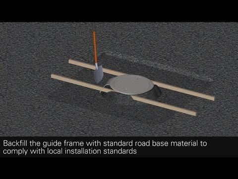 SELFLEVEL Manhole Cover Access Solution - Retrofit Asphalt Installation