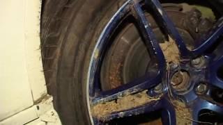 Машина улетела с трассы в реальном или подставном ДТП на острове Русский