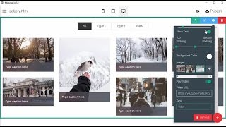 A gallery block in Mobirise3 Bootstrap Theme - Mobirise Builder v3.05 thumbnail