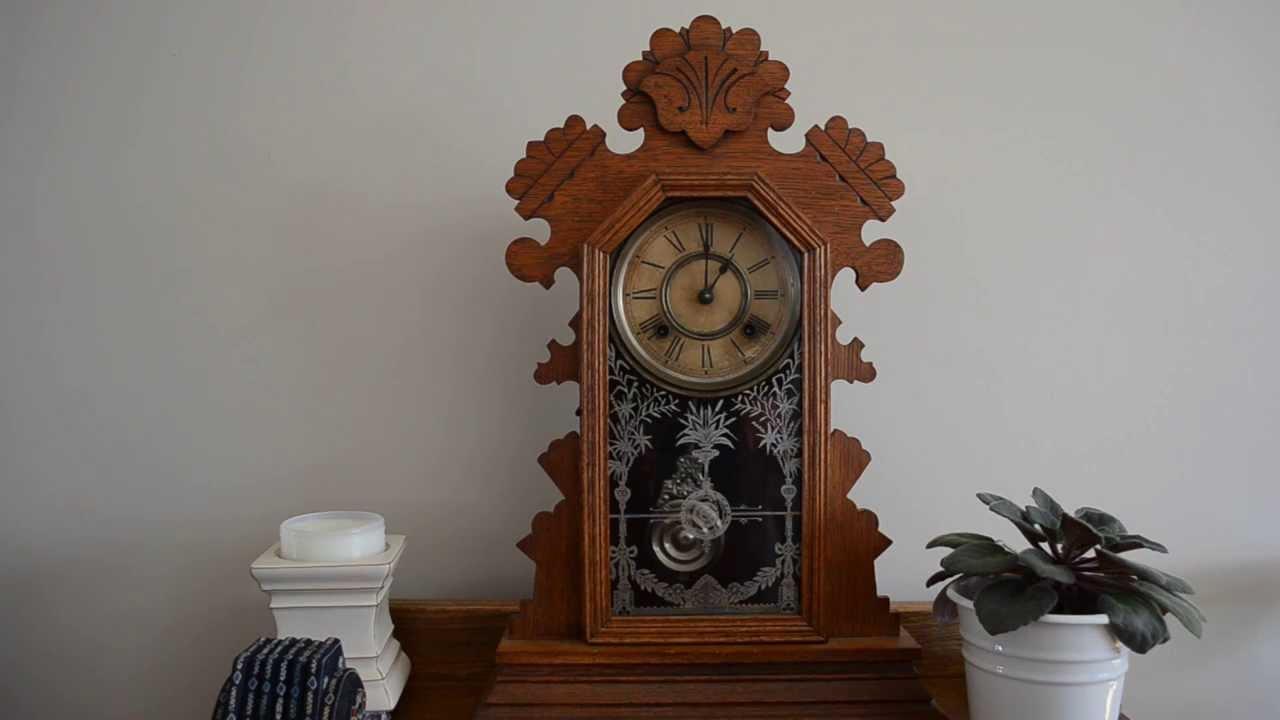 Ansonia Clock Company Gingerbread Clock YouTube
