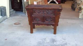 Chinese Flower Pattern 3 Drawers Side Table S2406