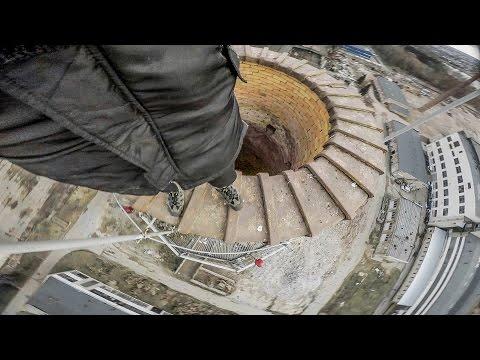 EXTREME Urban Climbing in FALLING APART Factory