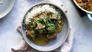 CREAMY COCONUT BEEF CURRY RECIPE    Low carb, gluten free, dairy free & healthy