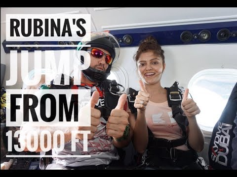 Rubina's Sky Dive in Dubai