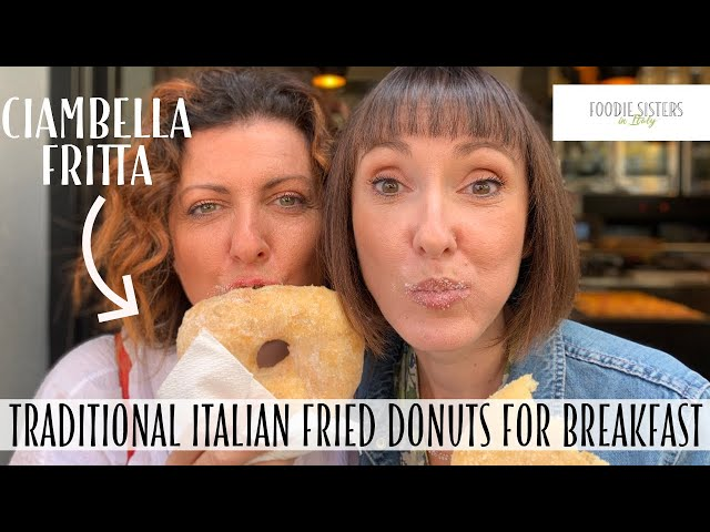 Traditional Italian Fried Doughnuts for Breakfast - Foodies Sisters in Italy