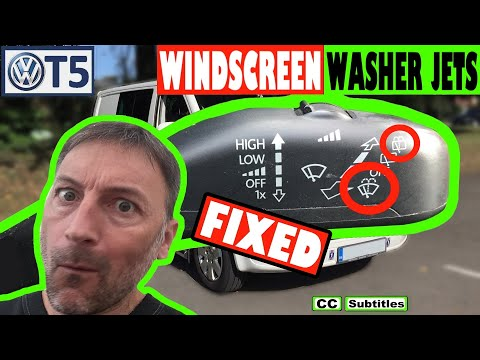 VW T5 Windscreen Washer Jets not Working - Fixed