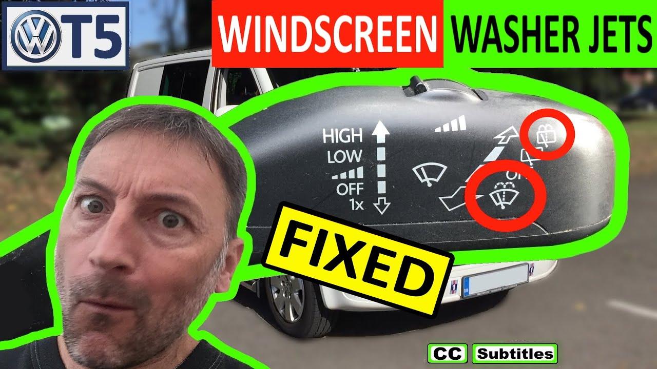Vw T5 Windscreen Washer Jets Not Working Fixed Youtube 2013 Volkswagen Jetta Fuse Diagram