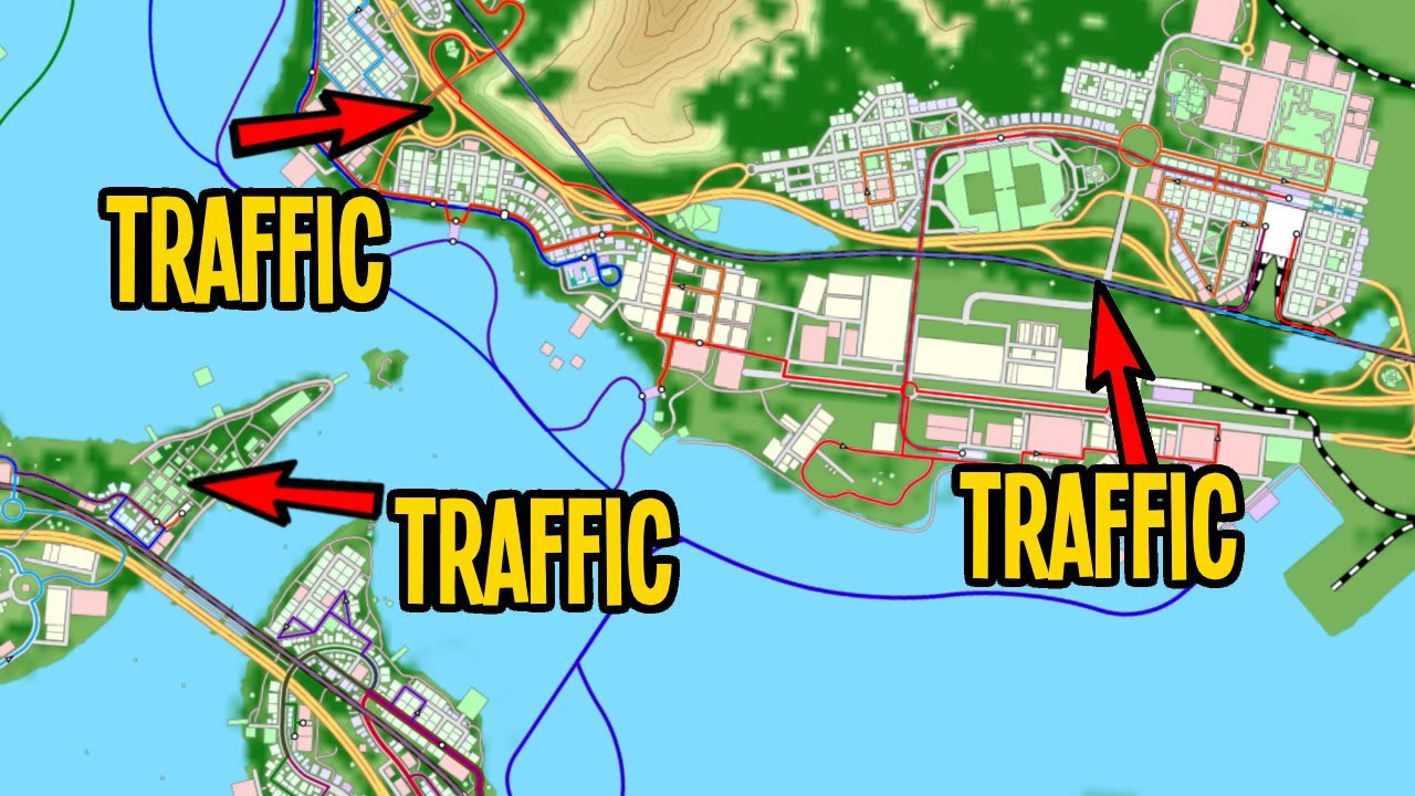 Fixing Chronic Traffic that's Backed Up Across the Map in Cities Skylines!