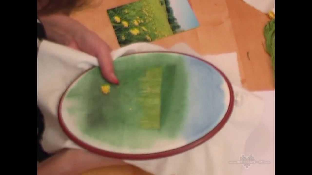 Одуванчик объемная вышивка