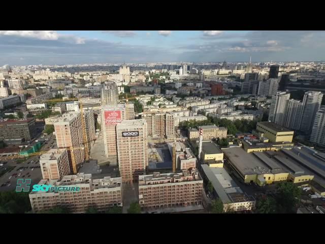 Пресненский район Москвы с воздуха. Панорама