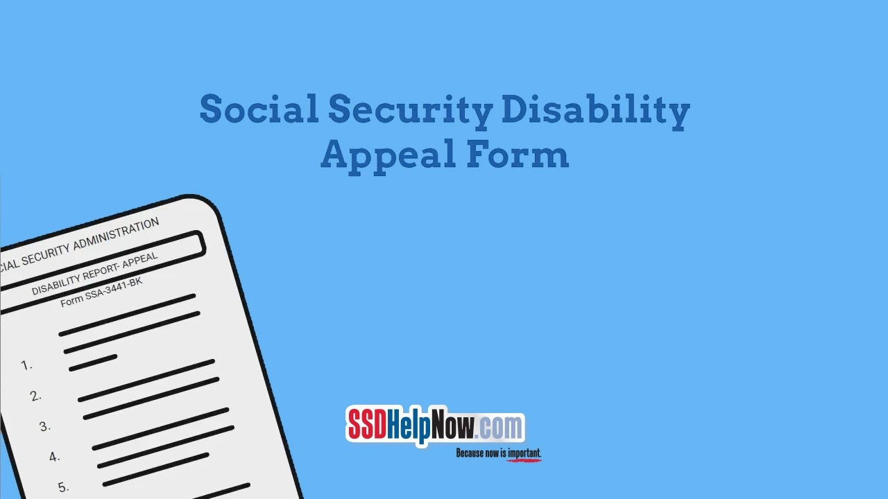 SSA-3441: Social Security Disability Appeal Form - YouTube